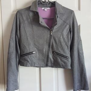 DKNY Metallic Moto Jacket
